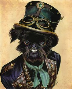 Steampunk Dogs need goggles too!