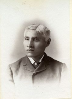 White Buffalo was a student at Carlisle from 1881 to 1884.  He had prematurely gray hair.