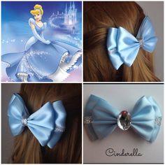 Want fantastic tips on making bows? Go to this fantastic info! Ribbon Art, Diy Ribbon, Ribbon Crafts, Ribbon Bows, Ribbons, Cinderella Hair, Cinderella Princess, Disney Hair Bows, Princess Hair Bows