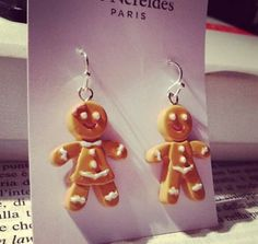 Les Nereides gingerbread earrings