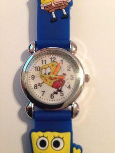 New Blue Spongebob Silicone Girls/Boys Watch 3-D #CartoonIdol
