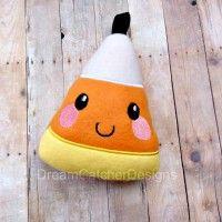 Candy Corn Stuffie ITH design