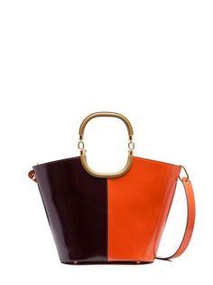 MAILI bag in calfskin orange