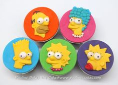 Cupcake Toppers featuring Characters from The Simpsons