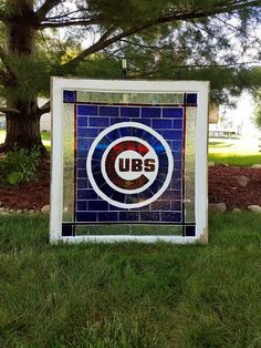 I want for the basement game room Chicgo Cubs, Cubs Win, Chicago Cubs Fans, Chicago Cubs Baseball, Cubs Room, Cubs Cards, Game Room Basement, Sports Signs, Barn Quilts