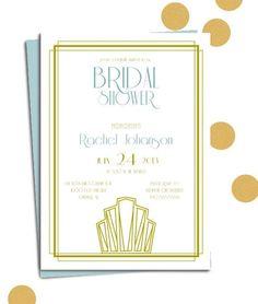 gatsby bridal shower ideas   Great Gatsby Bridal Shower Invitation