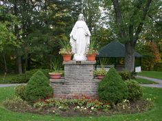 Notre Dame Academy alumnae donated this statue of Our Lady of Grace in 1952 to Notre Dame Convent, Waterdown, Ontario, Canada.