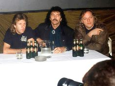Keith emerson. Tony Iommi and David Gilmour