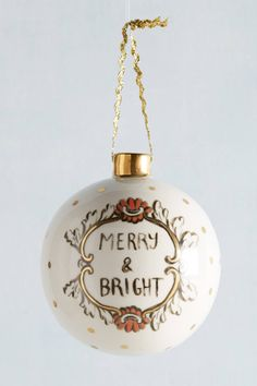 Ceramic Cheer Ornament | Pinned by topista.com