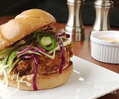 Fried Chicken Sandwiches with Slaw and Spicy Mayo via Taking On Magazines