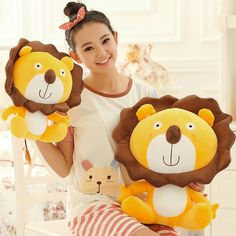 Free Shipping Stuffed Plush Toy Sunflower cartoon lion doll/toy Best gift for girls and Children's