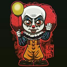 13 Gorgeous Pieces of 'IT' Fan-Art - Popcorn Horror Arte Horror, Horror Art, Horror Movie Characters, Horror Movies, Lord Mesa Art, Pennywise The Dancing Clown, Horror Pictures, Horror Icons, Modelos 3d