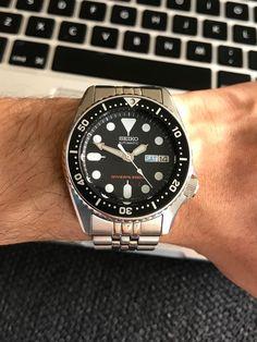 [Seiko] Just got a new Thought I'd show-off! Seiko Skx, Seiko Watches, Seiko Automatic, Automatic Watch, Pocket Watches, Wrist Watches, Black Boys, Men's Collection, Casio