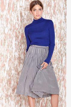 Saint Laurent Check Yourself Skirt  for work