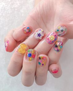 37 Yellow Nail Art Ideas For Fashion-Forward Girls Cute Acrylic Nails, Cute Nails, Pretty Nails, Korean Nail Art, Korean Nails, Nail Swag, Acryl Nails, Uñas Fashion, Kawaii Nails