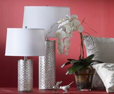 Flower power and lovely lamps.