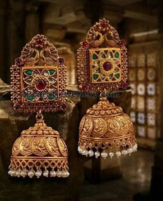 Bride in Peacock Diamond Jhumkas