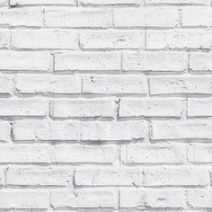 Create a statement with our White Painted Brick Pattern Wallpaper Mural. This clean and uncomplicated feature wall will brighten up any space. Black Brick Wallpaper, Brick Wallpaper Bedroom, Brick Pattern Wallpaper, Brick Effect Wallpaper, Tile Wallpaper, Painted Wallpaper, Wallpaper Ideas, White Wash Brick, White Brick Walls