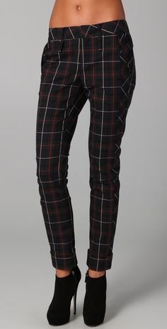 Amy thinks designer pants are selling out and that Gwen isn't edgy enough but... she likes these.   L.A.M.B. Plaid Skinny Pants