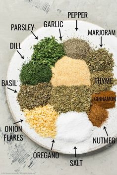 This homemade Greek seasoning mix is the perfect way to add authentic flavor to any dish! This DIY spice blend is made with pantry staples and easily mixed together in minutes! Homemade Spice Blends, Homemade Spices, Homemade Seasonings, Spice Mixes, Do It Yourself Food, Seasoning Mixes, Mediterranean Recipes, Mediterranean Seasoning, Greek Recipes