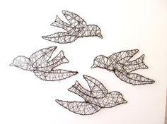 Original 'Bird In Flight' Wire Sculpture via Etsy