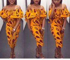 NuVu off shoulder dress african colours ankara by HouseOfIzzi