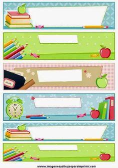 Imprimolandia: Etiquetas escolares para imprimir