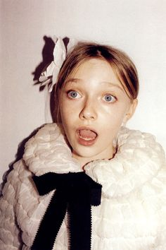 Dakota Fanning by Juergen Teller for Marc Jacobs Spring 2007 ad campaign