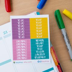 28 Bubblegum Theme Headers  // Erin Condren Life Planner Vertical by FasyShop on Etsy