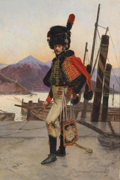 19thcenturyboyfriend:  Offizier des Chassseurs à Cheval Regiments der napoleonischen Nationalgarde, François Flameng