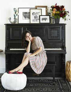 Actress Rachel Bilson + Mason and Hamlin PIano #photoshoot #upright