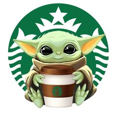 Starbucks Coffee Baby Yoda Round Vinyl Decal Sticker Car Truck Window Laptop Cellphone Yeti sold by QVD-Quality Vinyl Decals. Shop more products from QVD-Quality Vinyl Decals on Storenvy, the home of independent small businesses all over the world. Cartoon Wallpaper Iphone, Star Wars Wallpaper, Cute Disney Wallpaper, Cute Cartoon Wallpapers, Cute Disney Drawings, Cute Cartoon Drawings, Cartoon Images, Yoda Drawing, Yoda Images