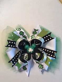 A personal favorite from my Etsy shop https://www.etsy.com/listing/269690082/st-patricks-day-mickey-mouse-hair-bow