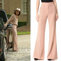 Cristal Flores wears these Alice + Olivia trousers on Dynasty 1x04