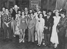 Hank Williams along with some fellow country music stars on a tour in Germany for American troops in 1946.