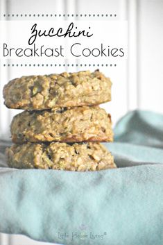 Healthy Zucchini Breakfast Cookies Need a great way to make a quick and inexpensive breakfast on the go for your family? They will love these Healthy Zucchini Breakfast Cookies so much that they won't even know that the zucchini is in them! Zucchini Cookie Recipes, Zuchinni Recipes, Zuchinni Cookies, Cookies Healthy, Healthy Snacks, Healthy Recipes, Healthy Drinks, Healthy Breakfast Cookies, Oat Cookies
