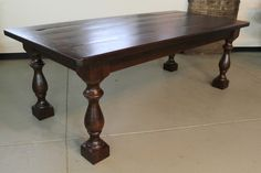 Restoration Hardware Inspired Table With Thick Turned Legs