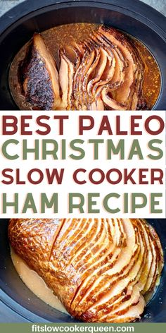 Honey dijob ham makes the best paleo Christmas slow cooker ham recipe. Your holiday meal is covered with this easy slow cooker or instant pot ham recipe.   paleo dinner recipe   low carb dinner recipe   keto dinner recipe #slowcooker #ham #christmasrecipes #instantpot #paleodinner #lowcarbrecipes