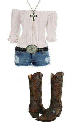 Cute country girl date outfit. Or just fun outfit in general Cute Country Girl, Looks Country, Cute Country Outfits, Country Wear, Country Style, Country Thunder Outfits, Southern Girl Style, Mode Outfits, Fashion Outfits