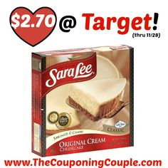 HOT HOT PRICE!! *CHEAP* Sara Lee Cheesecake Deal @ Target!  Click the link below to get all of the details ► http://www.thecouponingcouple.com/cheap-sara-lee-cheesecake-deal-target/ #Coupons #Couponing #CouponCommunity  Visit us at http://www.thecouponingcouple.com for more great posts!