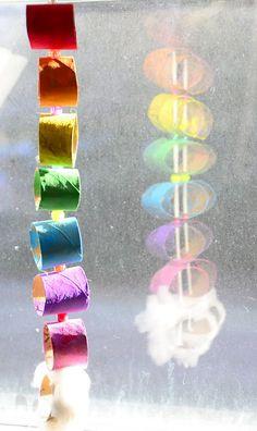 Jane of all Trades: Cardboard tube rainbow garland