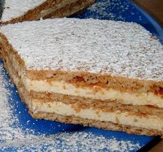 Laktató, nagyon finom sütemény. Én mindig dupla adagot sütök belőle. Hungarian Cake, Hungarian Recipes, Cookie Recipes, Dessert Recipes, Sweet Cookies, Sweet And Salty, Coffee Cake, No Bake Cake, Vanilla Cake