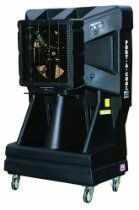 Port-A-Cool Portable Evaporative Cooling Unit with Vertical Tank, 3900 CFM, 900 Square Foot Cooling Capacity, Black