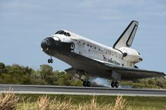 March 9, 2011. Space Shuttle Discovery lands at the Shuttle Landing Facility at NASA's Kennedy Space Center in Florida, completing its 39th and final flight. Discovery returned from the more than 12-day STS-133 mission to the International Space Station. Photo credit: NASA