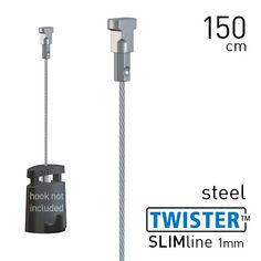 Artiteq Twister Slimline 1mm Steel 150cm