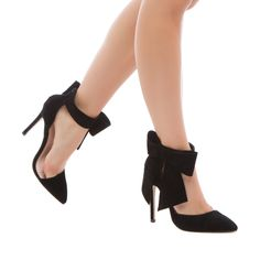 Mayala Heels- the oversized bow on this darling pointed-toe pump brings effortless femininity to your ensemble.