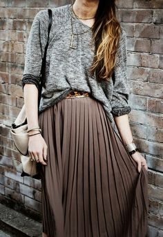 slouchy sweater + maxi - I could wear this everyday