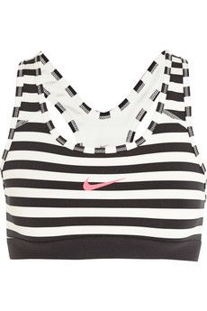 Nike Pro Classic Dri-FIT striped stretch-jersey sports bra | NET-A-PORTER