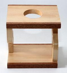 coffee dripper stand made of pine and camphor wood knock down