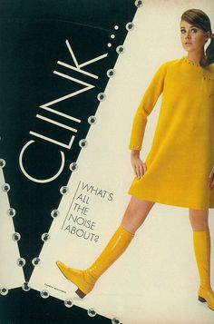 Studs / clink - clank - clunk {fashion feature from august 1967 seventeen magazine} 60s And 70s Fashion, Mod Fashion, Teen Fashion, Fashion Models, Vintage Fashion, Fashion Shoes, Fashion Accessories, Patti Hansen, Mary Quant